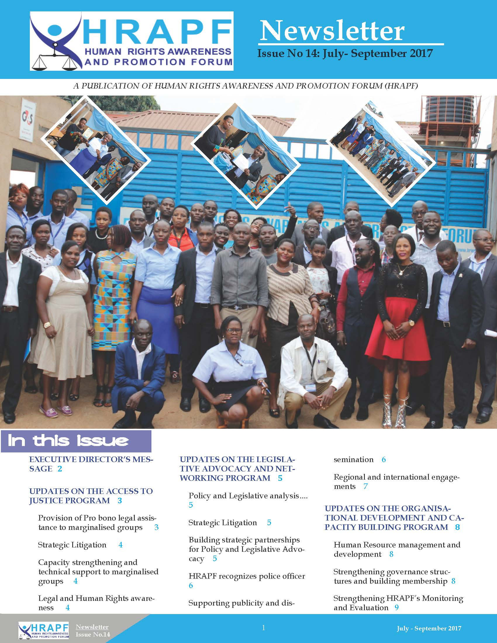 14th Issue of HRAPF Newsletter April to June 2017