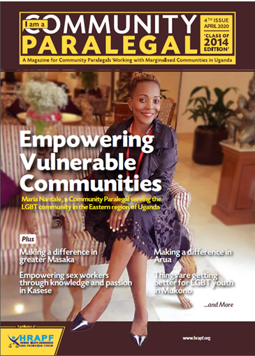 Forth Issue of the I AM A COMMUNITY PARALEGAL Magazine, Class of 2014