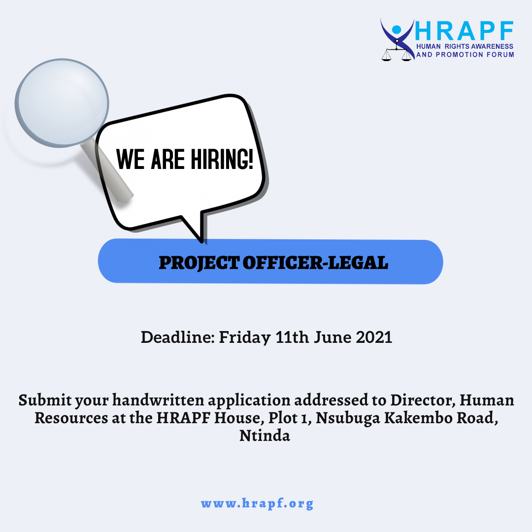 JOB OPPORTUNITY: Project Officer-Legal