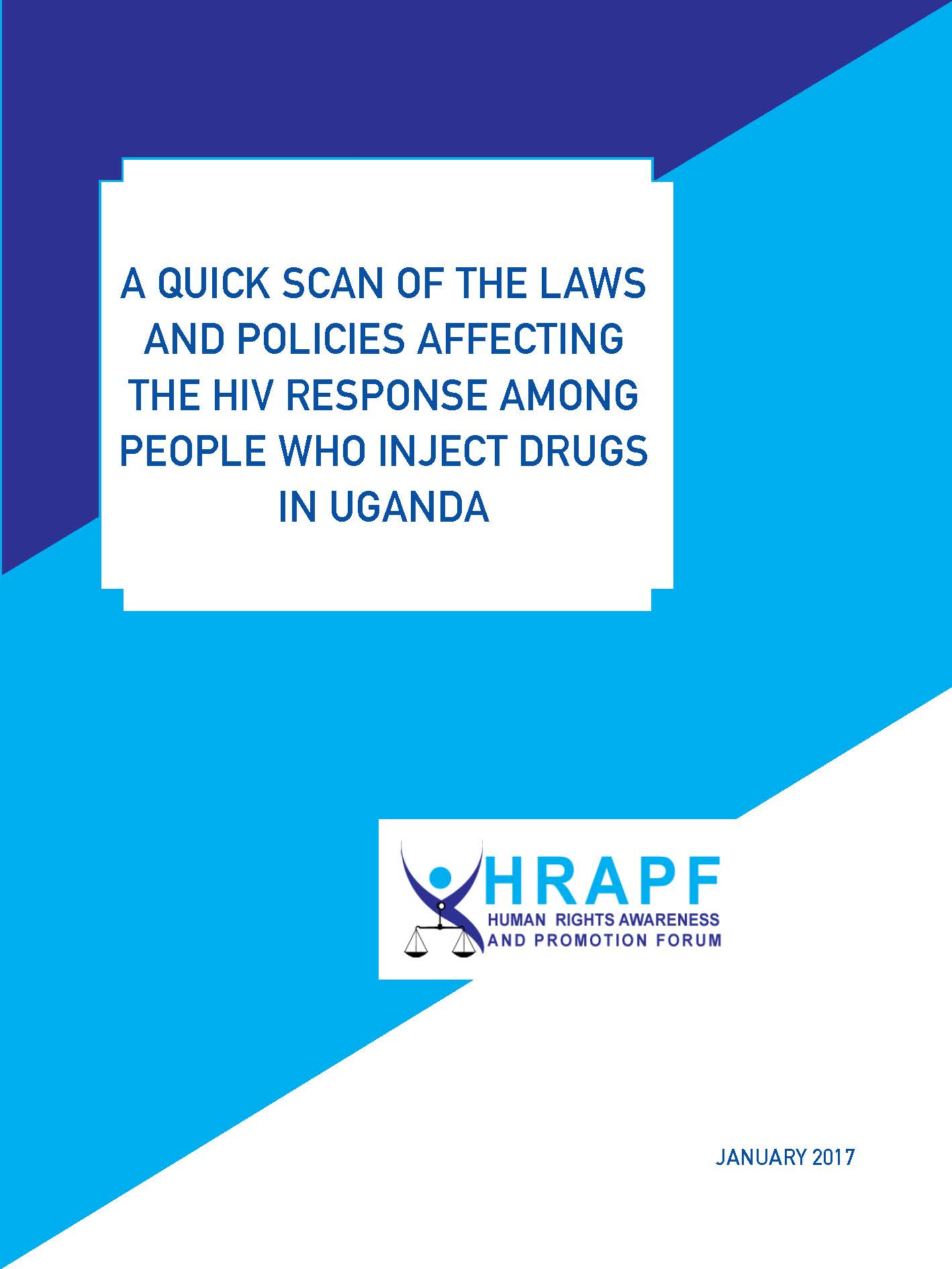 Quick scan on laws affecting People Who Inject Drugs