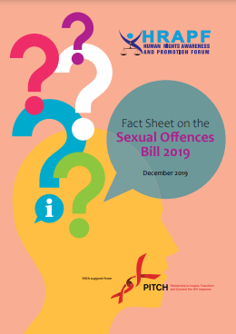 Fact sheet on the Sexual Offences Bill 2019