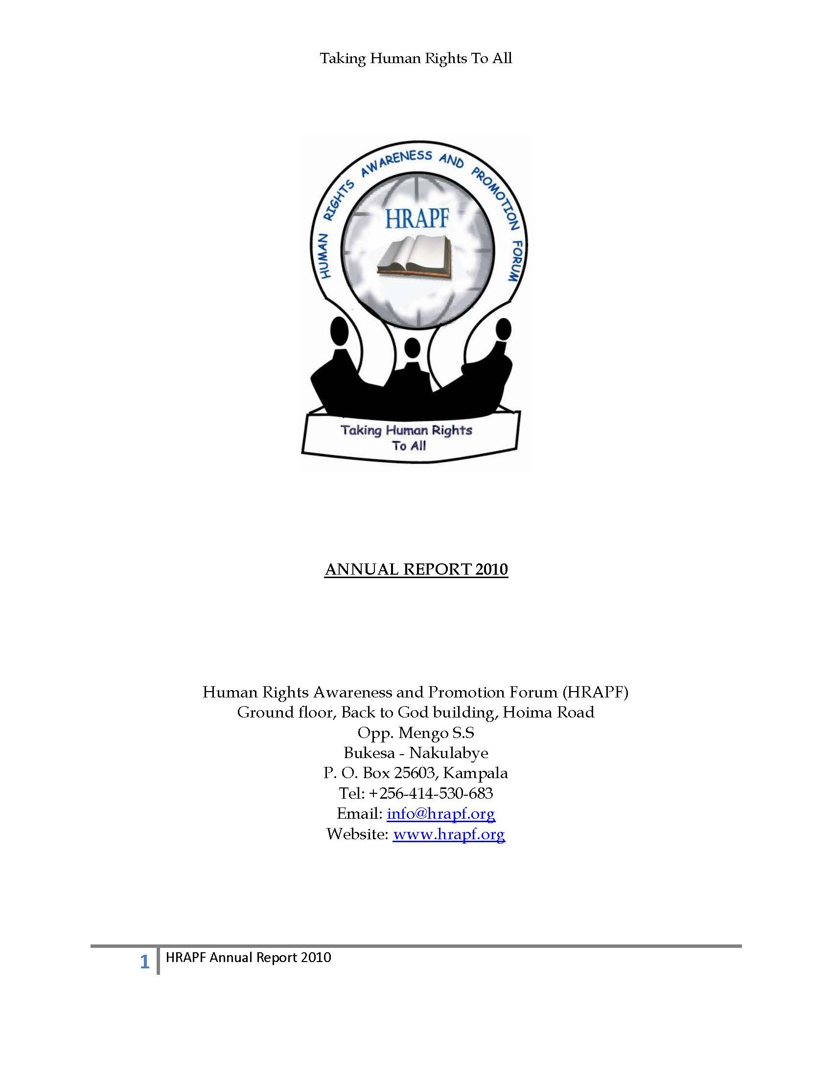 Annual report for the year 2010
