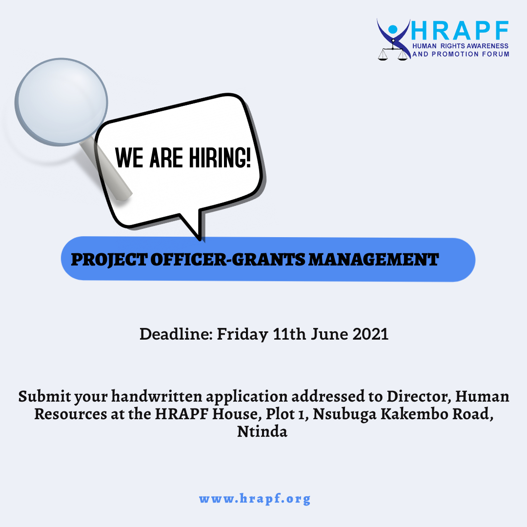 JOB OPPORTUNITY: Project Officer-Grants Management
