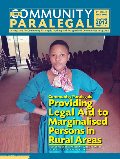 Third issue of the IAM A COMMUNITY PARALEGAL Magazine - Class of 2013 Edition